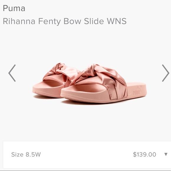 sale retailer 7de29 95060 PRICE DROP Puma Rihanna Fenty Bow Slide WNS NWT